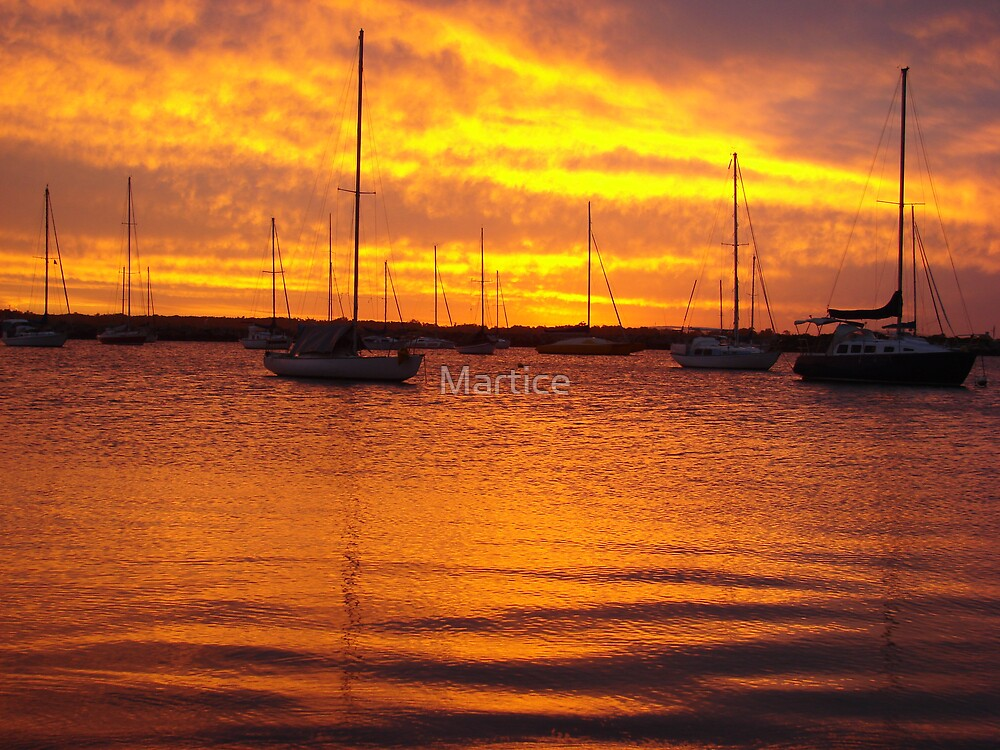 Orange Boats by Martice