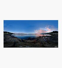 Dusk Shoreline near Moville, Donegal (Rectangular) Photographic Print