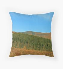Forested Land Throw Pillow