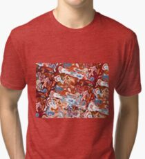 Liquid (Abstract Color Combination) III Tri-blend T-Shirt