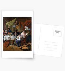 Jan Steen The Dissolute Household Postcards