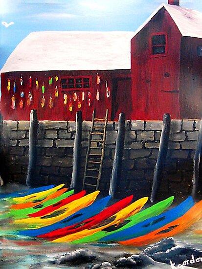 Rainbow Of Kayaks Under Motif-1 _*kj style_* by WhiteDove Studio kj gordon