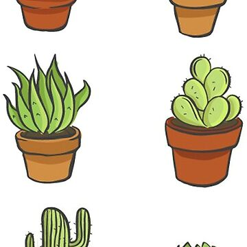 Potted Cactus Succulent Bundle by RyanToday