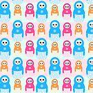 «Patrón de pingüinos de caramelo matrioshka de invierno» de EuGeniaArt