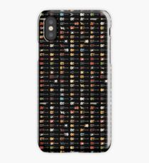 95 Pixel Guitars and Basses and a Keyboard on Black iPhone Case/Skin