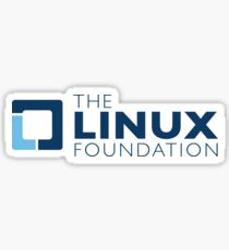 The linux foundation Sticker