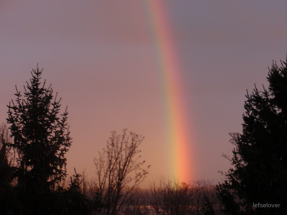 Rainbow in the morning..................Seattle   by lefselover