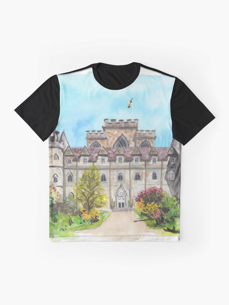 Vista alternativa de Camiseta gráfica Castillo de Inveraray