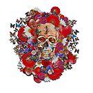 Skull Flower Power 18 by Diego-t