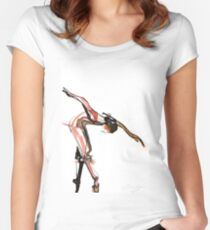 Ballet Dance Drawing Fitted Scoop T-Shirt