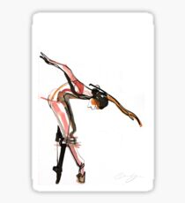 Ballet Dance Drawing Sticker
