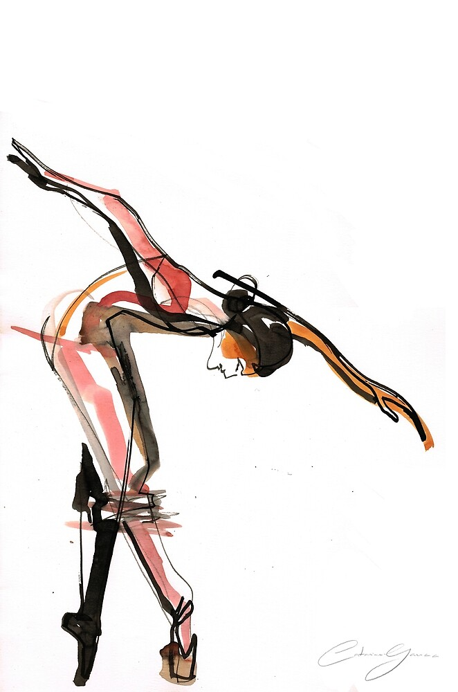 Ballet Dance Drawing by CatarinaGarcia