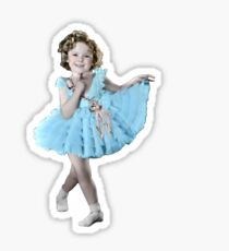 Shirley Temple Frills Sticker