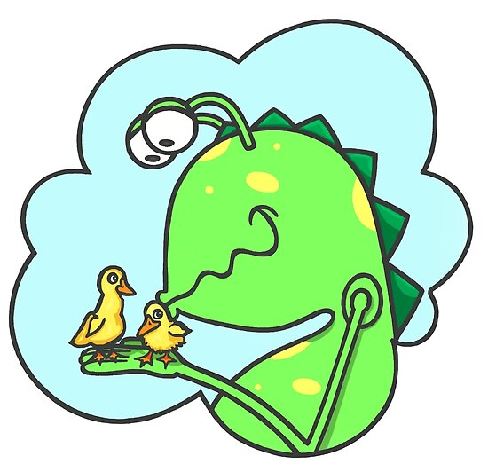 Peter & the Closet Monster, duck kisses by Konni Jensen