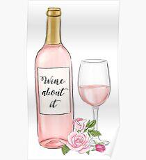 Wein darüber Poster