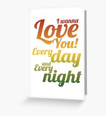 Bob Marley Song Lettering Greeting Card