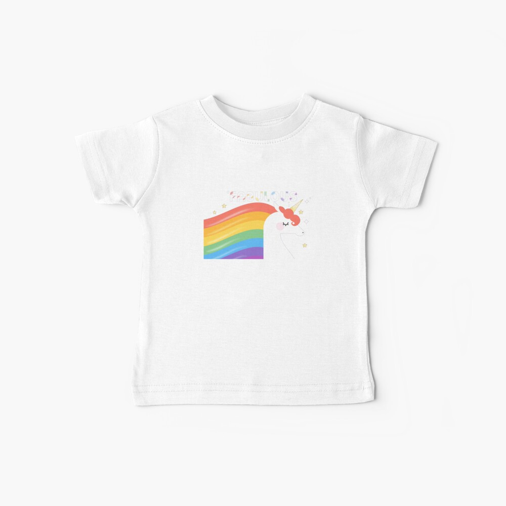 Fabulous Sparkling Rainbow Unicorn Baby T-Shirt