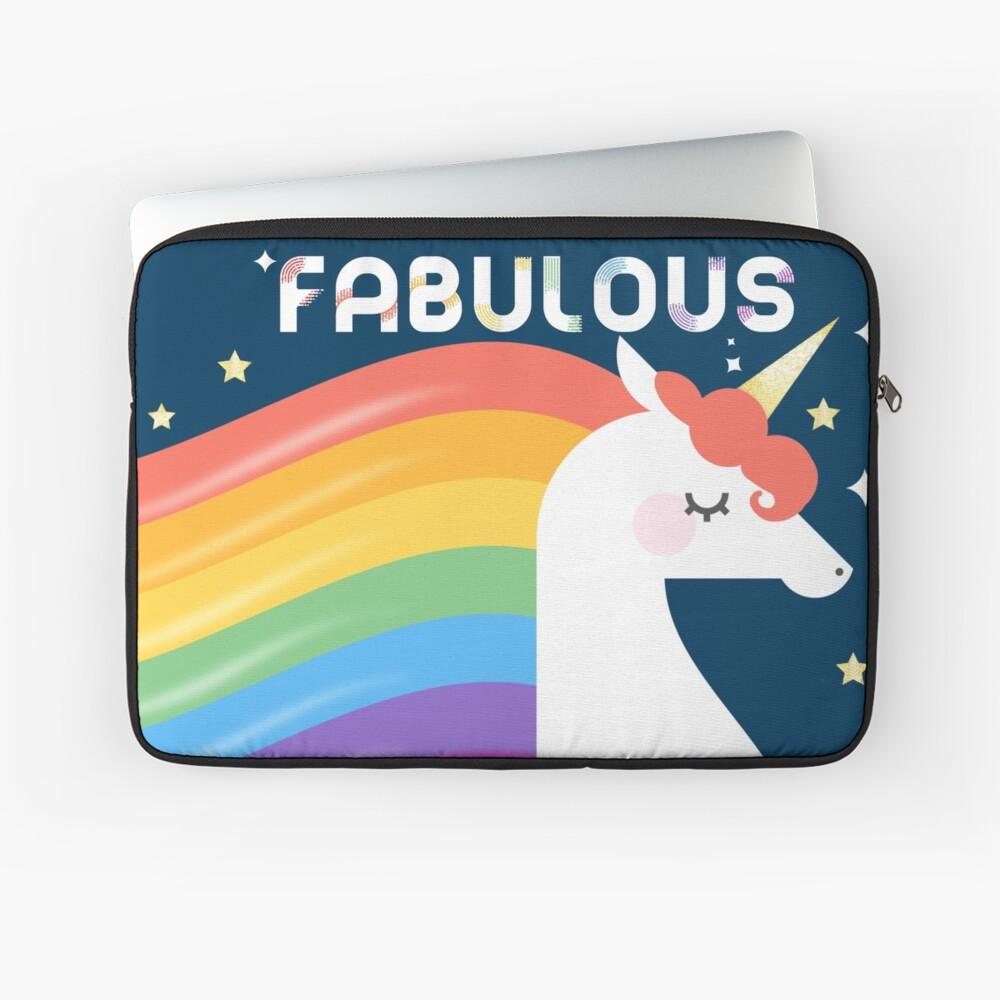 Fabulous Sparkling Rainbow Unicorn Laptop Sleeve