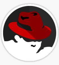 RedHat Flat logo Sticker
