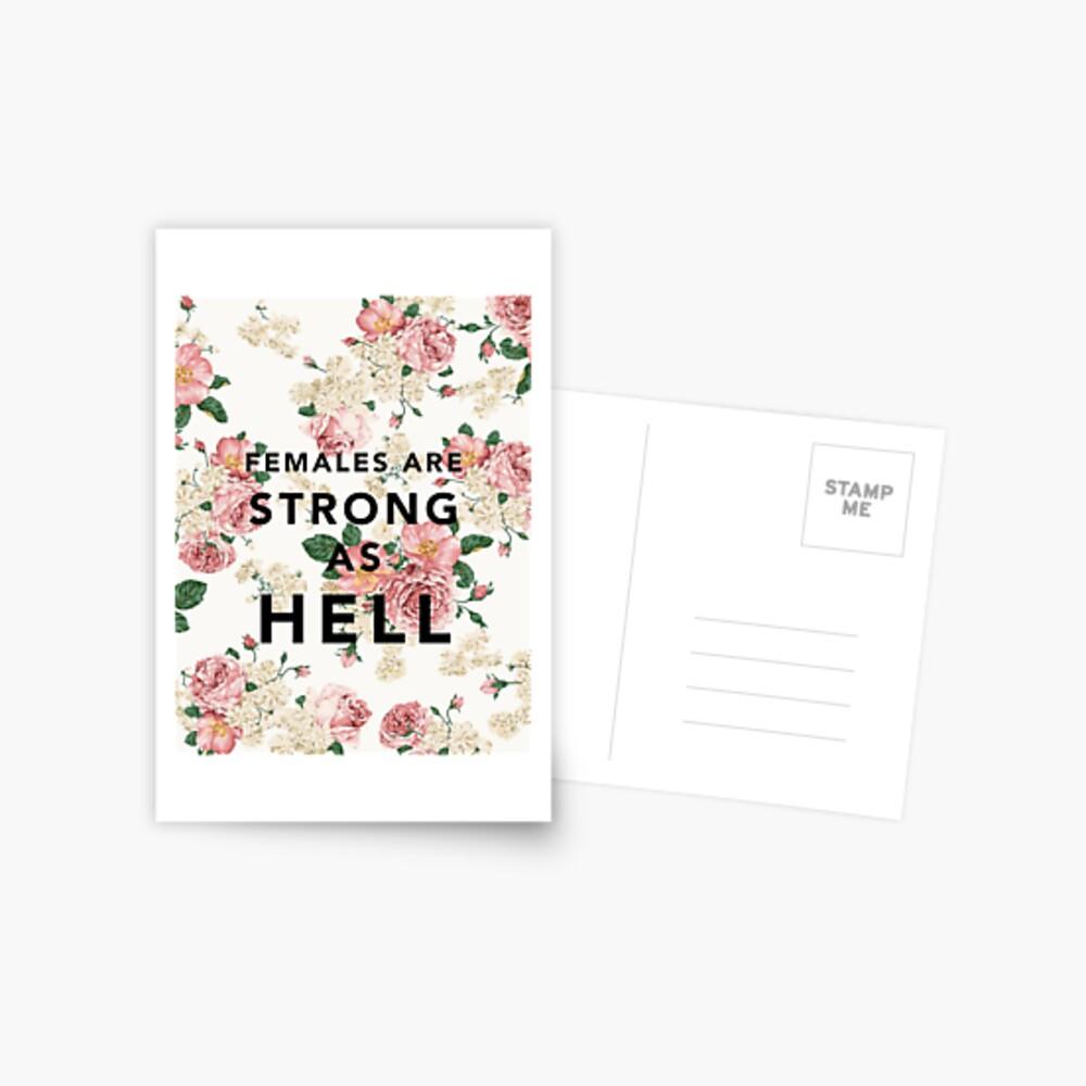 Frauen sind stark wie die Hölle Postkarte