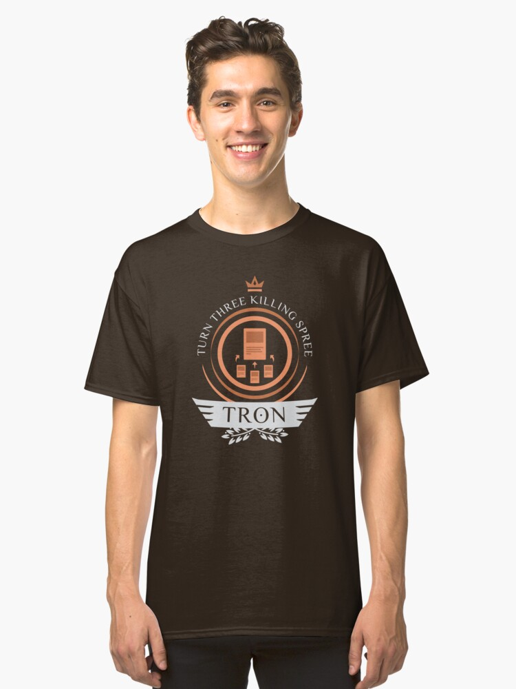 Tron Life V2 Classic T-Shirt Front