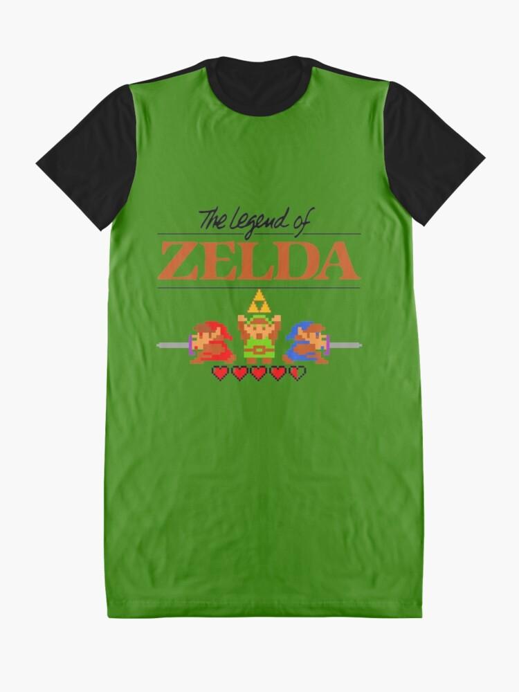 Alternative Ansicht von Die Legende von Zelda Ocarina der Zeit 8 Bit T-Shirt Kleid