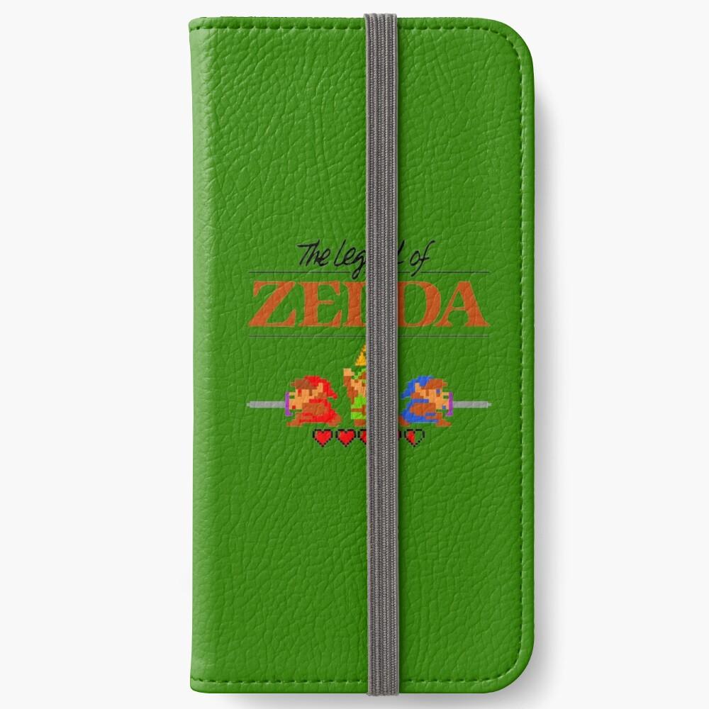 Die Legende von Zelda Ocarina der Zeit 8 Bit iPhone Flip-Case