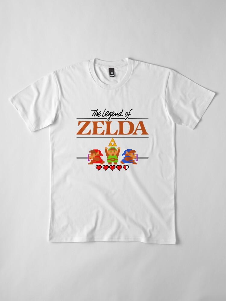 Alternative Ansicht von Die Legende von Zelda Ocarina der Zeit 8 Bit Premium T-Shirt