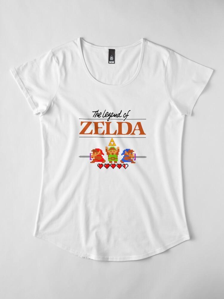 Alternative Ansicht von Die Legende von Zelda Ocarina der Zeit 8 Bit Premium Rundhals-Shirt