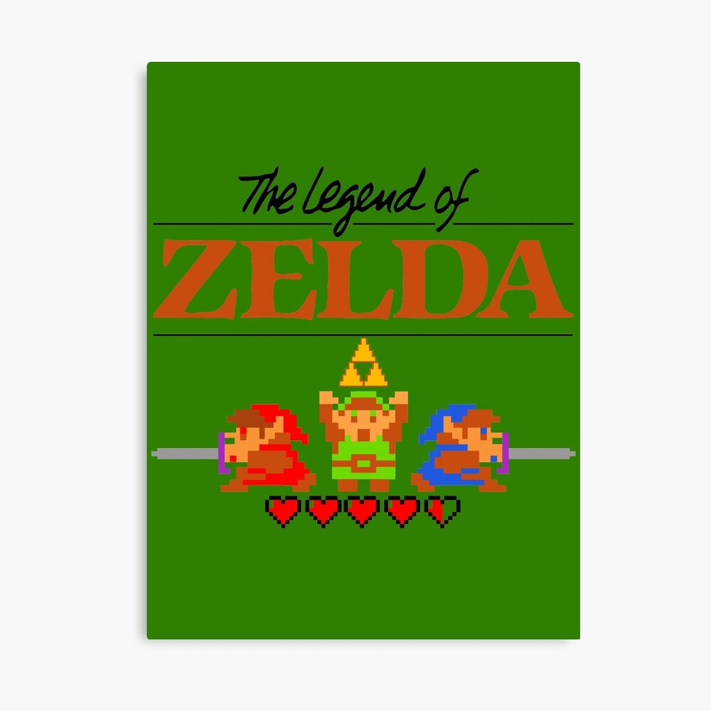 Die Legende von Zelda Ocarina der Zeit 8 Bit Leinwanddruck