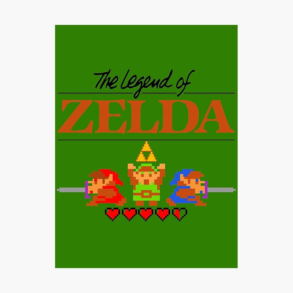Die Legende von Zelda Ocarina der Zeit 8 Bit Fotodruck