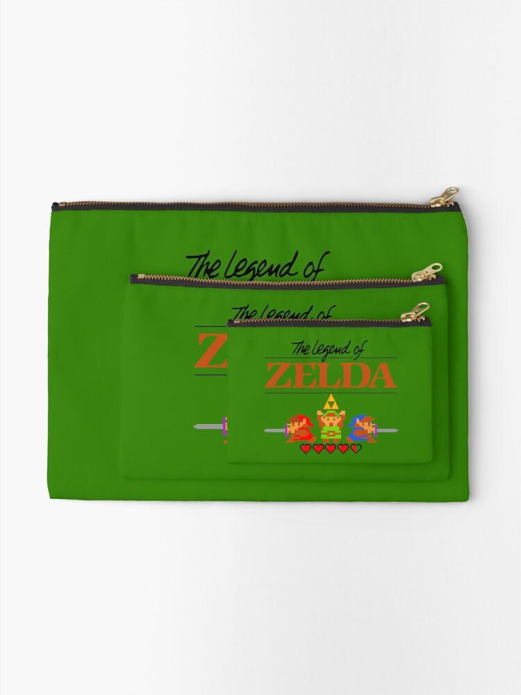 Alternative Ansicht von Die Legende von Zelda Ocarina der Zeit 8 Bit Täschchen