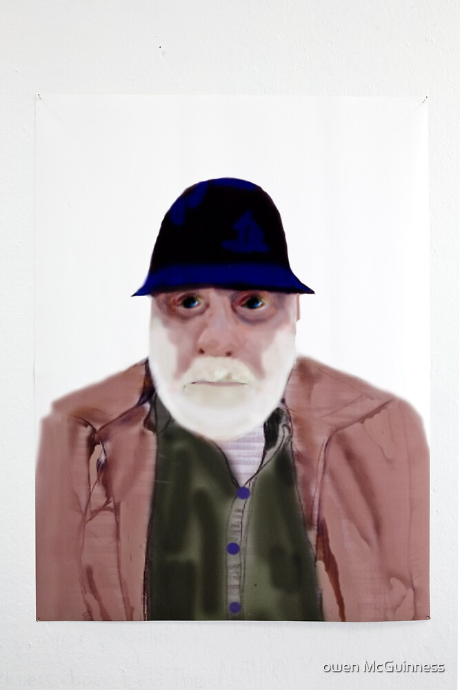 Old man with blue hat. by owen McGuinness