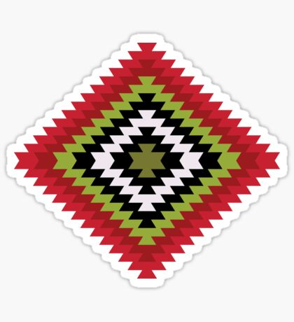 Modern Kilim - Bright Geometric pattern by Cecca Designs Sticker