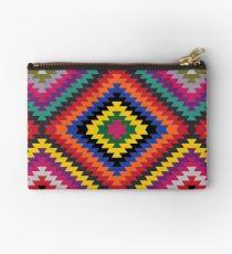 Modern Kilim - Bright Geometric pattern by Cecca Designs Studio Pouch