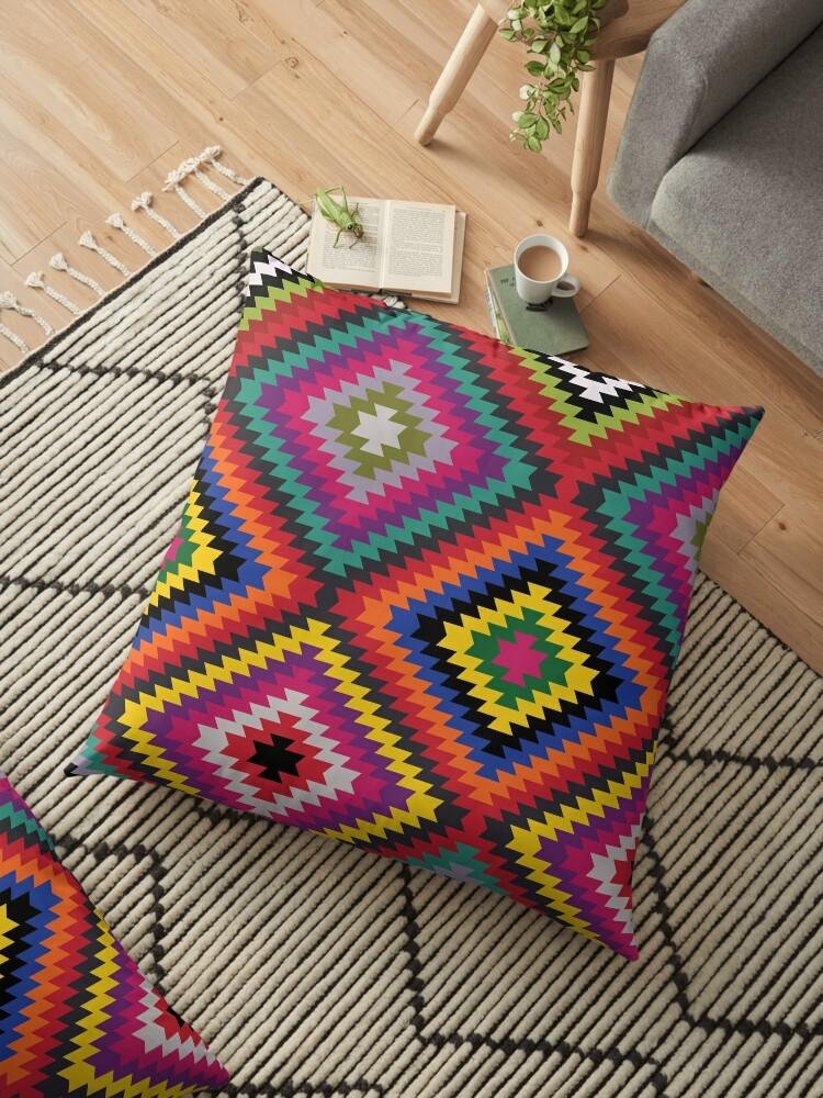Modern Kilim - Bright Geometric pattern by Cecca Designs by Cecca-Designs