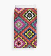 Modern Kilim - Bright Geometric pattern by Cecca Designs Duvet Cover