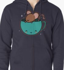 Teacup Mouse Zipped Hoodie