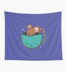 Teacup Mouse Wall Tapestry