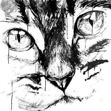 big cat face by pechane