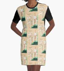 Golf Girl Fashions Roaring Twenties Graphic T-Shirt Dress