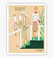 Golf Girl Fashions Roaring Twenties Sticker