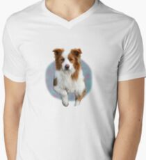 The Border Collie Men's V-Neck T-Shirt
