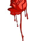Dripping red rose by Esuth