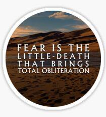 Little Death | Litany Against Fear | Dune Sticker