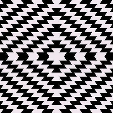 Modern Kilim - black and white by Cecca-Designs