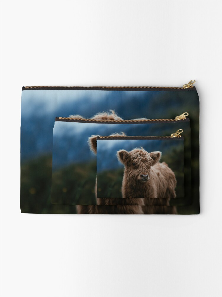 Alternate view of Baby Highland Cow Zipper Pouch