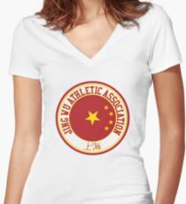 Jing Wu Athletic Association Women's Fitted V-Neck T-Shirt