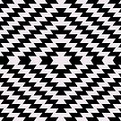 Modern Kilim - black and white by Cecca-Designs