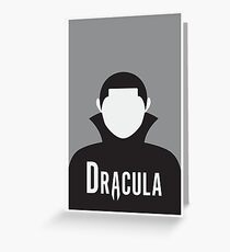 Dracula Minimalist Poster Greeting Card